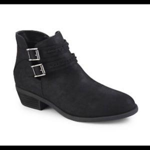 CARLOS LANEY Black Buckle Ankle BOOTIES 7 1/2 M